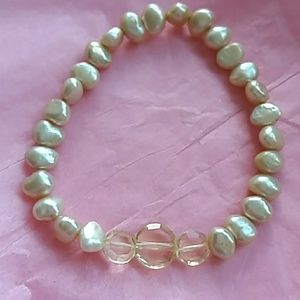Jewelry - Genuine Yellow Freshwater Pearl Bracelet